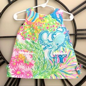 Lilly Pulitzer Baby Lovers Coral Shift Dress
